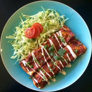 Family Friendly Vegan Enchiladas