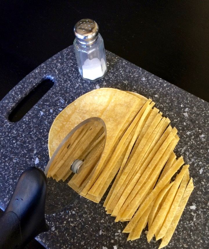 Make your own baked tortilla strips