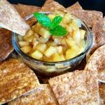 Baked Cinnamon Chips and Apple Pie Salsa