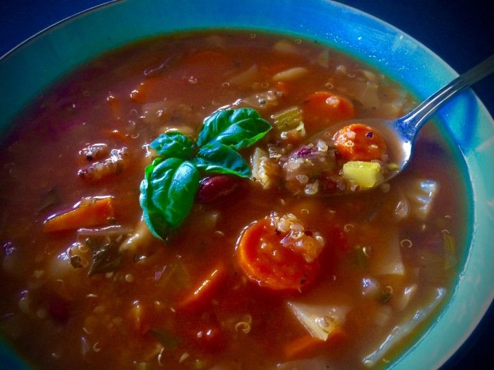 Quinoa Minestrone ~ Even better the second day- if that's possible.