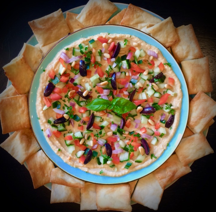 Mediterranean Dip (Vegan) with Pita Chips