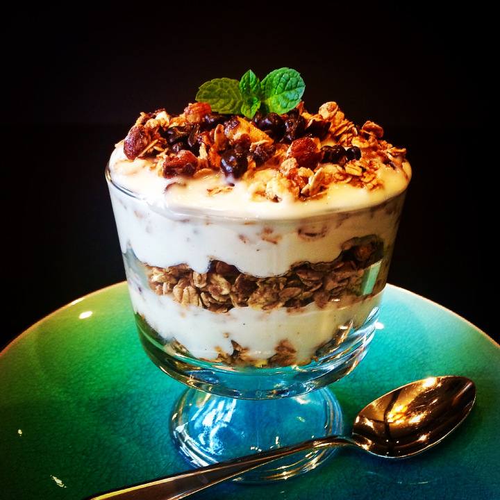 Chocolate Hazelnut Granola Parfait