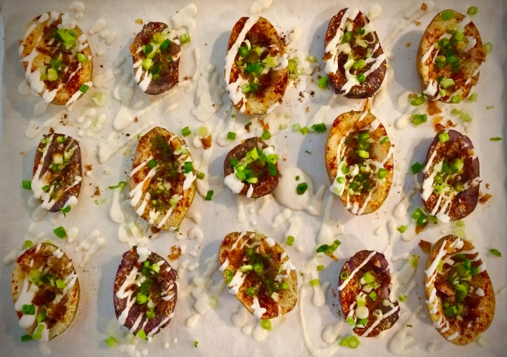 Vegan Loaded Baked Potato Skins