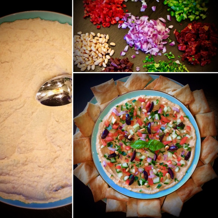 Step-by-step: Mediterranean Dip (Vegan) with Grilled Flatbread
