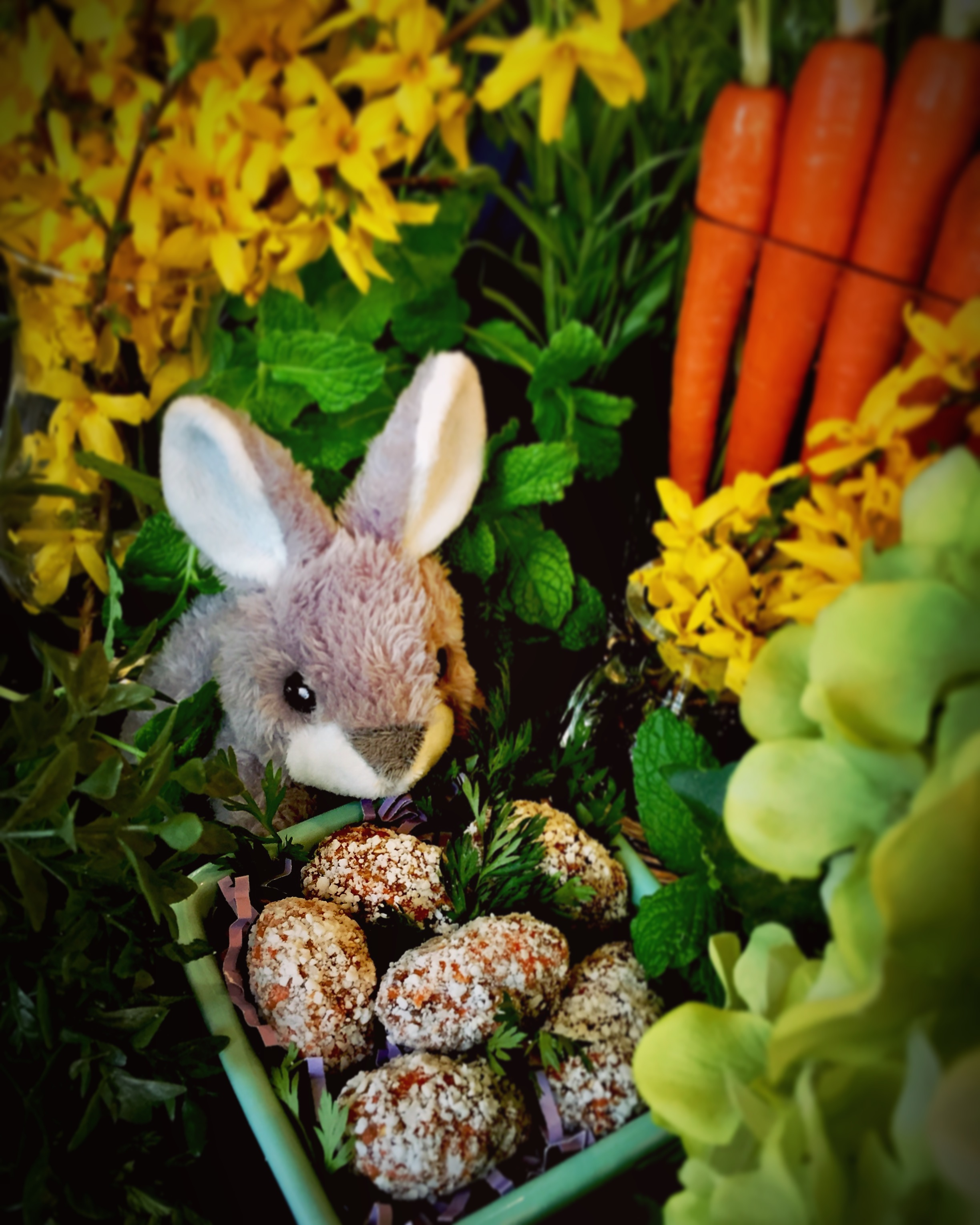 CARROT CAKE ENERGY BITES! A Healthy Easter Treat!