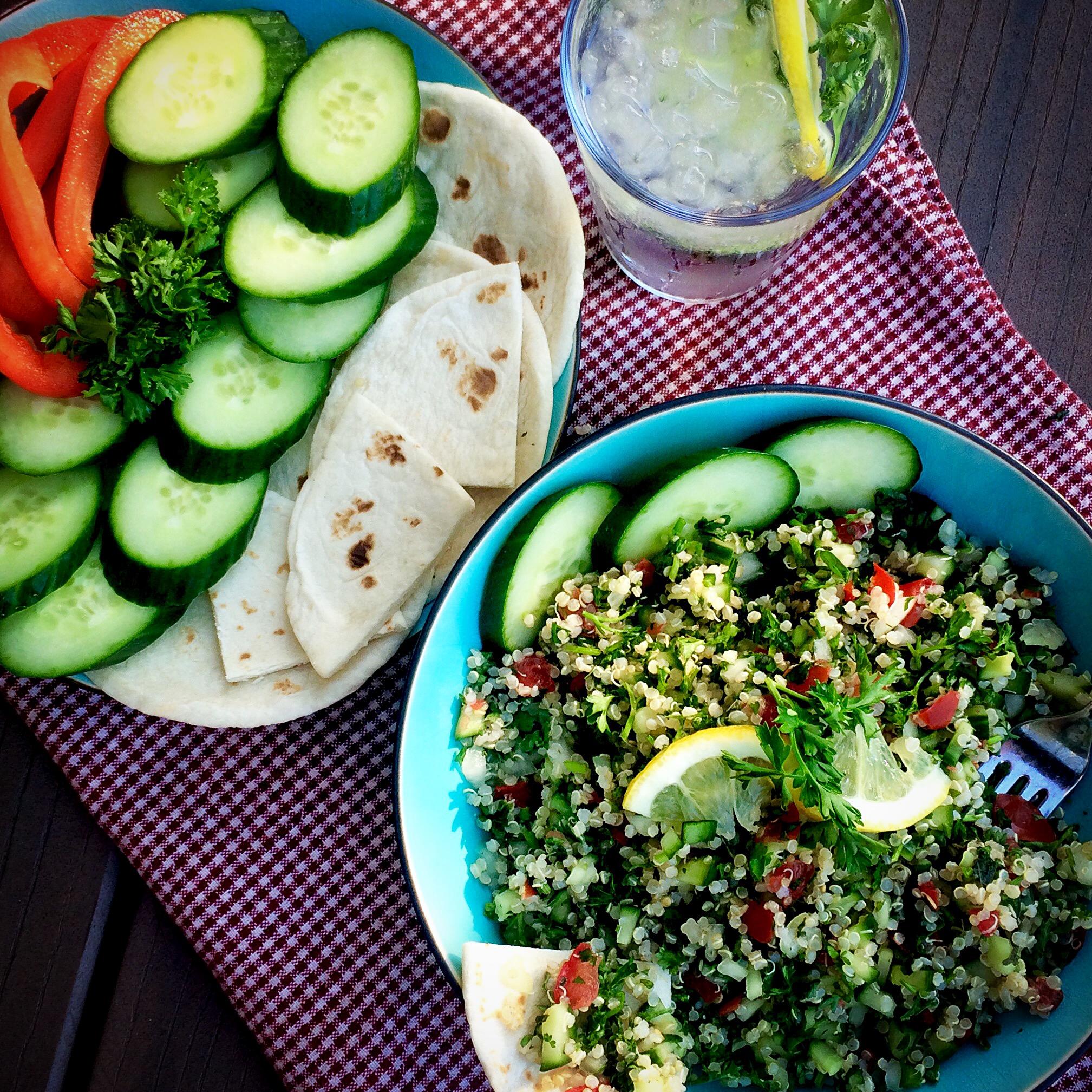 Quinoa Tabouli (Oil free and gluten free)