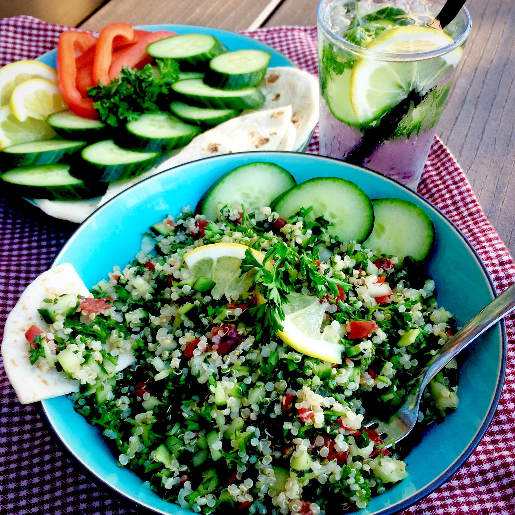 Quinoa Tabouli (Gluten free and oil free)