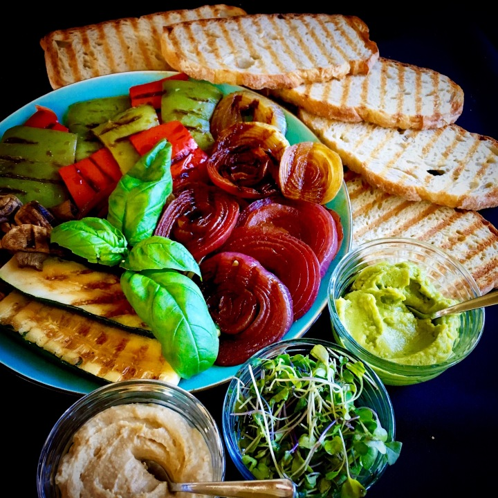Grilled vegetable panini little blue plates - Make perfect grilled vegetables ...