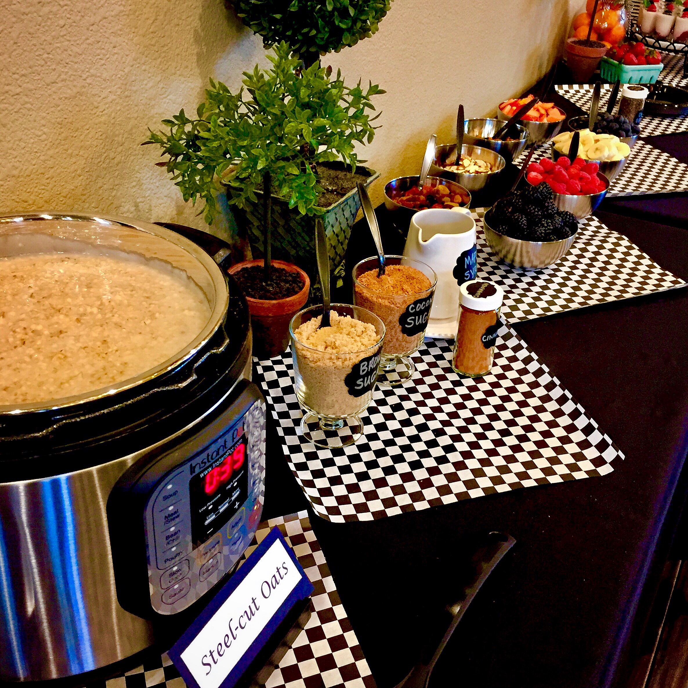 Treat your guests to steel-cut oats made OVERNIGHT in the INSTANT POT!